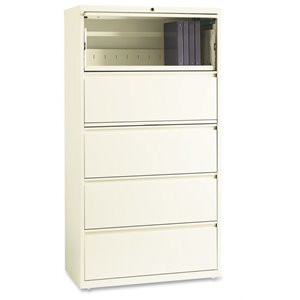Lorell 5 Drawer Binder Storage Lateral Filing Cabinet
