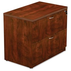 Lorell 2 Drawer Lateral File Cabinet in Cherry