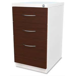 Lorell Laminate Wood Mobile File Cabinet in White