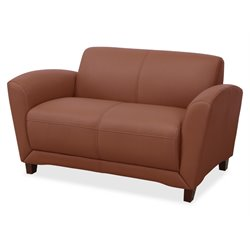 Lorell Leather Reception Loveseat
