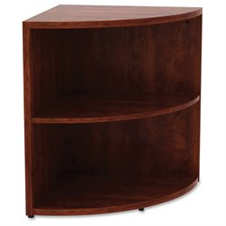 Lorell Corner Bookcase in Cherry