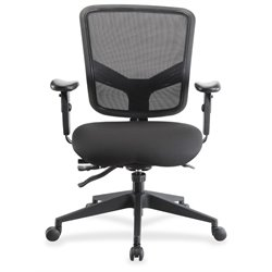 Lorell Executive Swivel Office Chair in Black