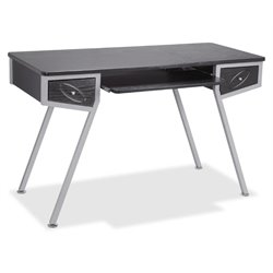 Lorell Laminate Computer Desk in Silver