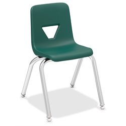 Lorell Stacking Student Chair in Green (Set of 4)