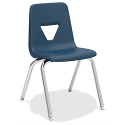 Lorell Stacking Student Chair in Navy (Set of 4)