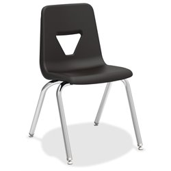 Lorell Stacking Student Chair in Black (Set of 4)