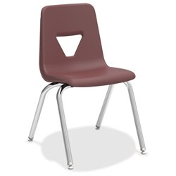 Lorell Stacking Student Chair in Wine (Set of 4)