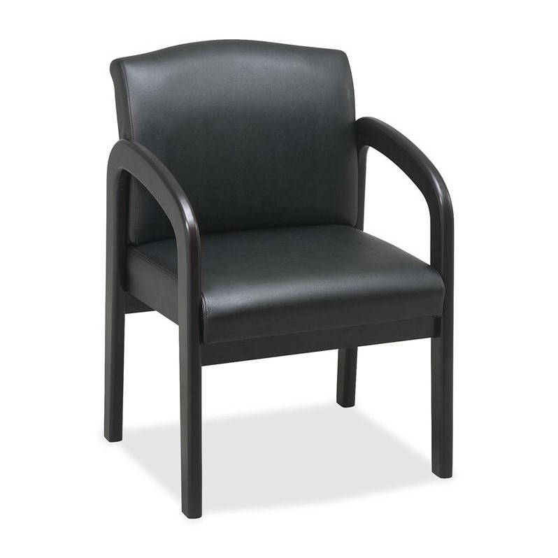 Lorell Deluxe Faux Guest Chair