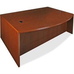 Lorell 88000 Series D-Shaped Bowfront Desk