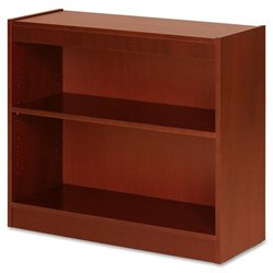 Lorell Two Shelf Panel Bookcase