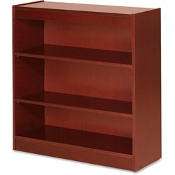 Lorell Three Shelf Panel Bookcase