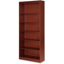 Lorell Six Shelf Panel Bookcase