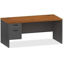 Lorell Cherry/Charcoal Modular Desk Furniture