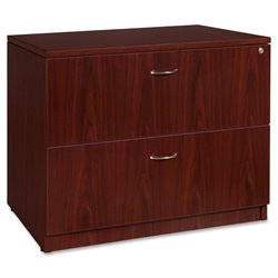 Lorell Essentials 2 Drawer Laminate Lateral Filing Cabinet