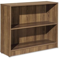 Lorell Essentials Series Walnut Laminate Bookcase