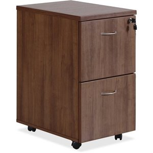 Lorell Essentials 2 Drawer Mobile Filing Cabinet