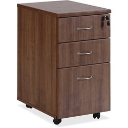 Lorell Essentials Walnut Freestndg Mobile Pedestal