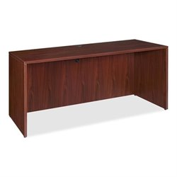 Lorell Essentials Laminate Computer Desk Shell in Mahogany