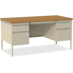 Lorell Oak Laminate Fortress Series Desking