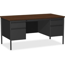 Lorell Walnut Laminate Fortress Series Desking