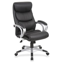 Lorell Executive High-back Swivel Leather Chair