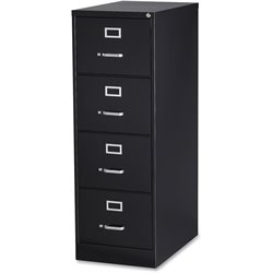 Lorell Commercial Grade Black Vertical Files