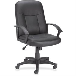 Lorell 84869 Leather Managerial Mid-back Chair