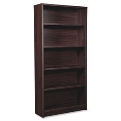 Lorell Prominence 79000 Espresso 5-Shelf Bookcase