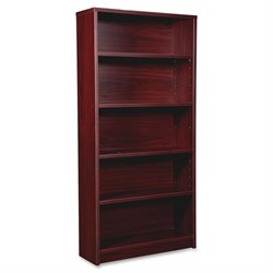 Lorell Prominence 79000 Mahogany 5-Shelf Bookcase