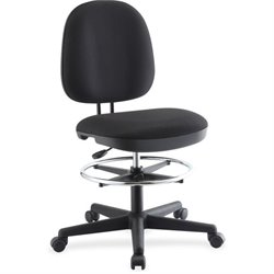 Lorell Contoured Back Swivel Stool