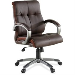 Lorell Low-back Executive Leather Swivel Chairs