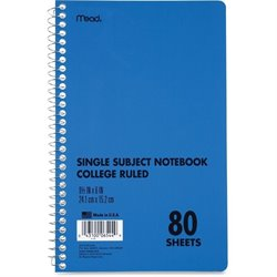 MeadWestvaco Mid Tier Single Subject Notebook