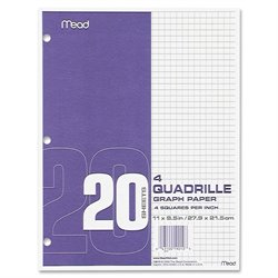 Mead Quad Ruled 3-Hole Graph Paper (Set of 240)