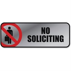Cosco No Soliciting Image/Message Sign