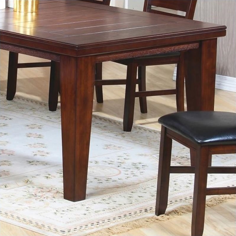 rustic dining room tables with leaves coaster imperial w 18 quot leaf extension rustic oak dining 9264