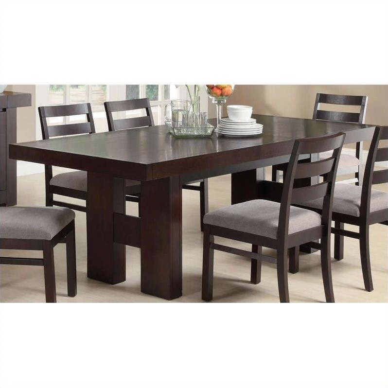 Coaster Dining Table In Cuccino